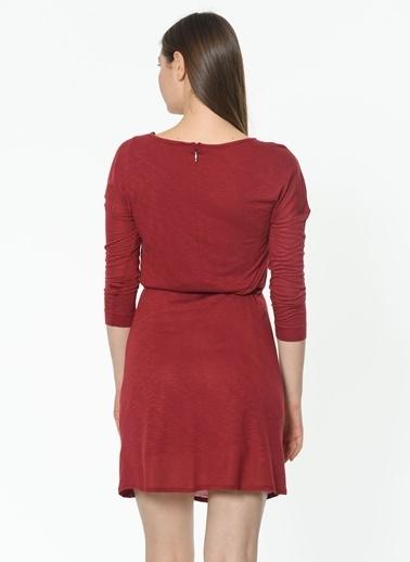 Asymmetry Elbise Bordo